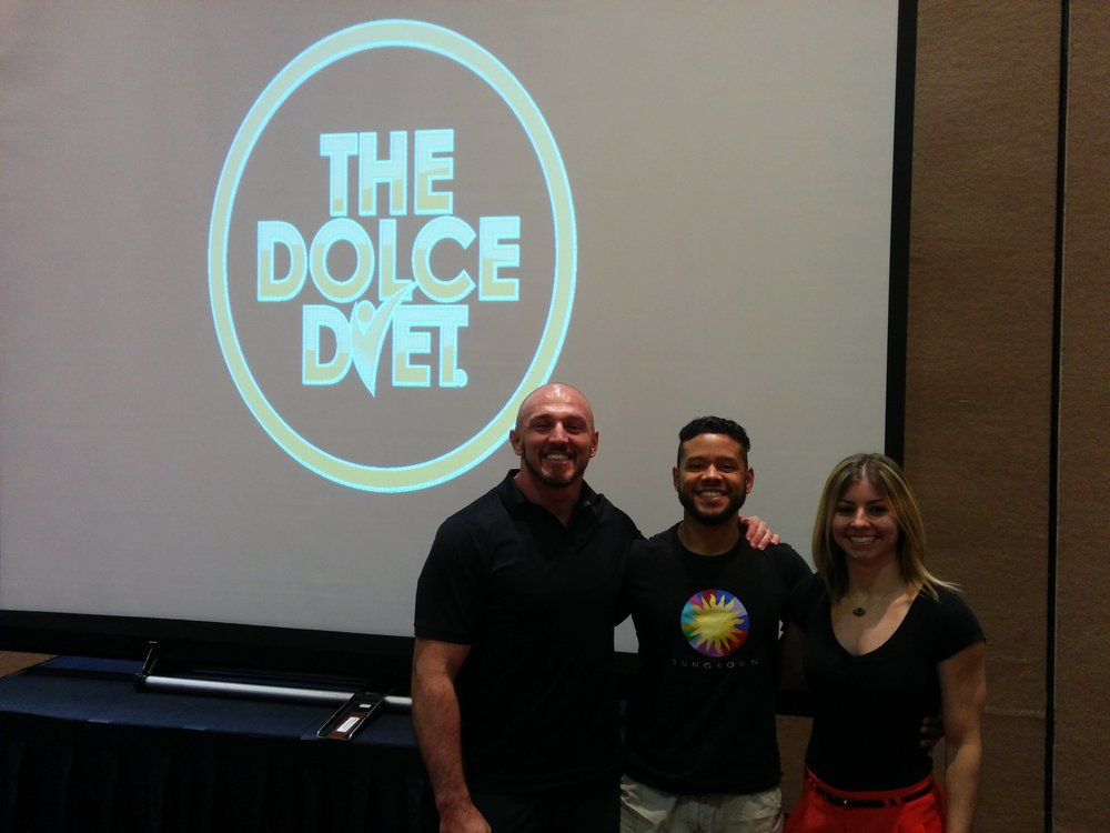 IN order from LEFT TO RIGHT: mIKE dOLCE, Luis Del toro, SAMANTHA COOGAN (MS,RDN,ld)