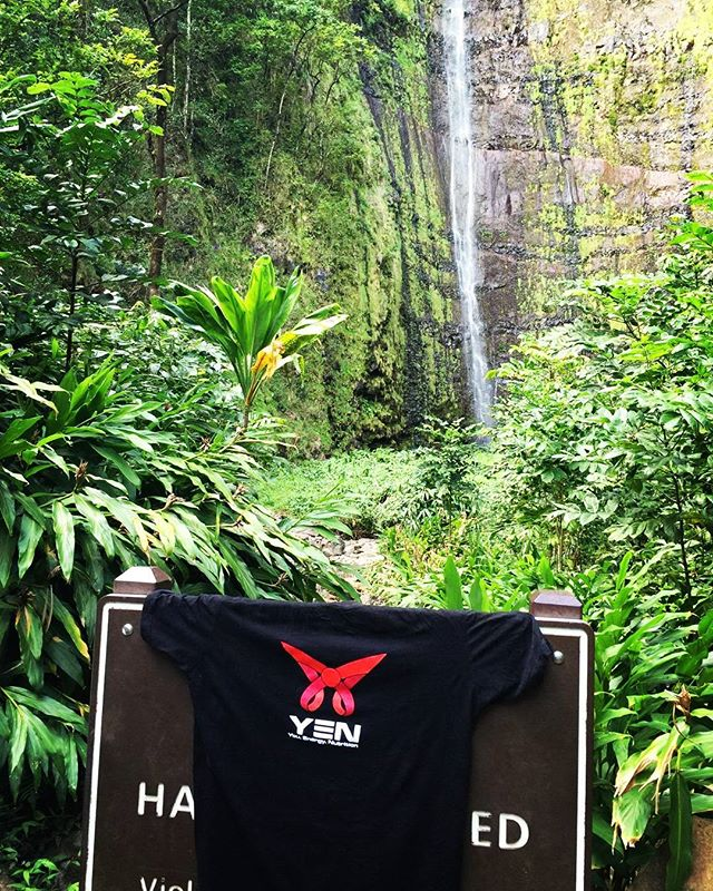 Happy Friday, We've made it...to the depths of the Maui rainforest! This photo was taken by one of our awesome clients after a 5 mile hike to reach this magical waterfall. Using the strength, confidance and energy gained from all that training made this (10 mile total) hike a breeze! #Vacation #Goals #Training #Nutrition #YEN