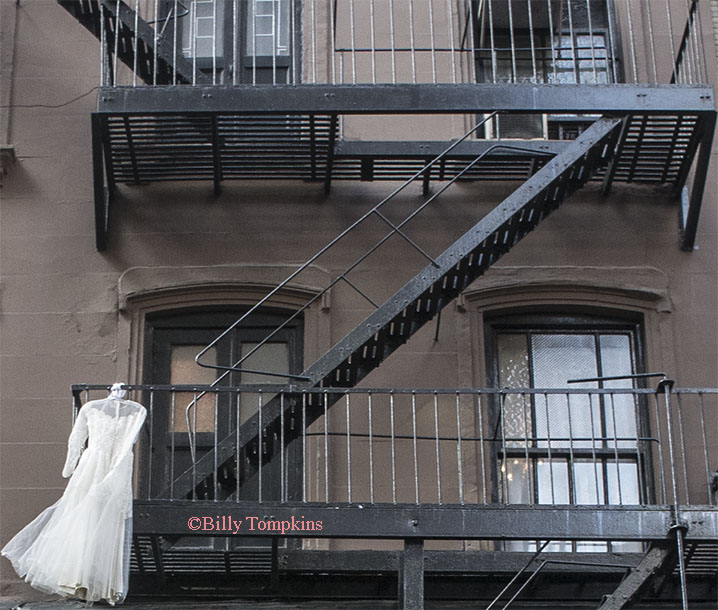 Wedding Dress on the Fire Escape