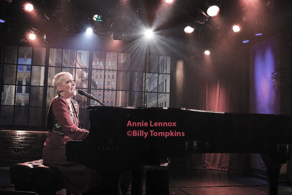 Annie Lennox on the set of A&E's Private Sessions