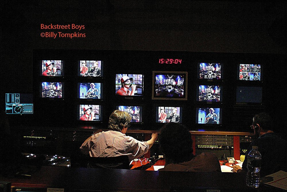 control room for The BackStreet Boys at A&E's Private Sessions