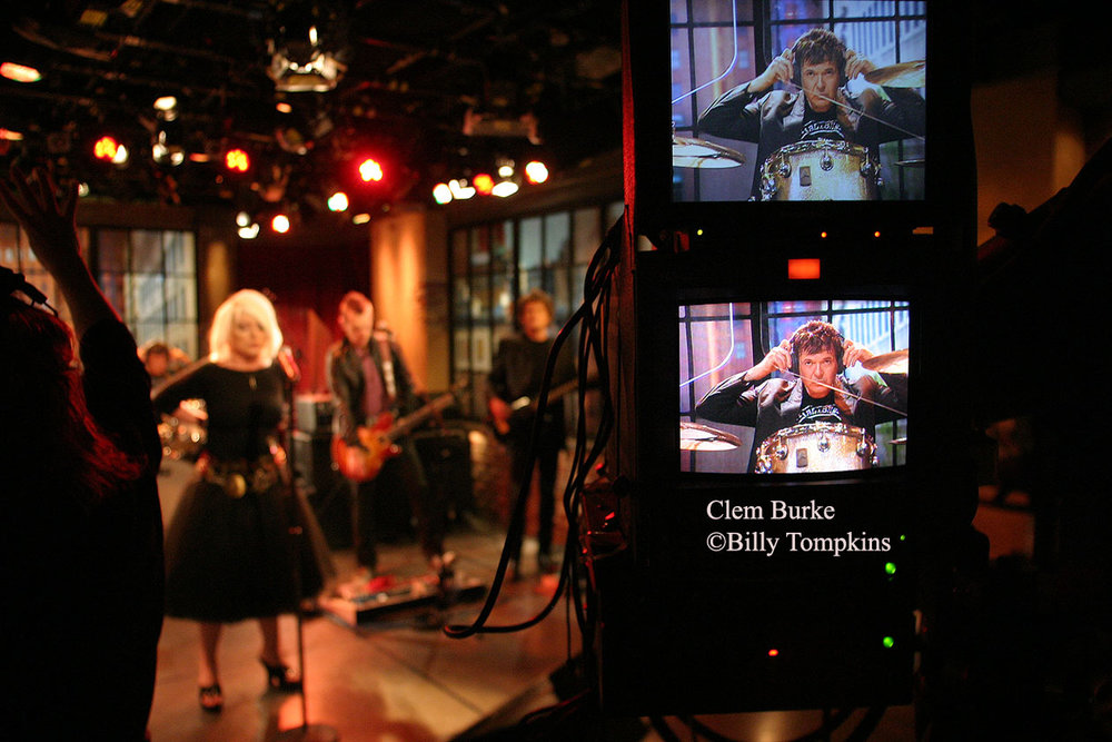 Clem Burke, drummer for Blondie on the set of A&E's Private Sessions
