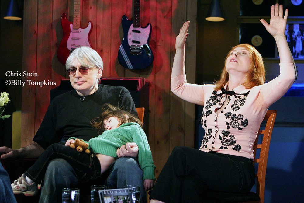 Chris Stein and Debbie Harry of BLONDIE on the set of VH1's Classic interview program.