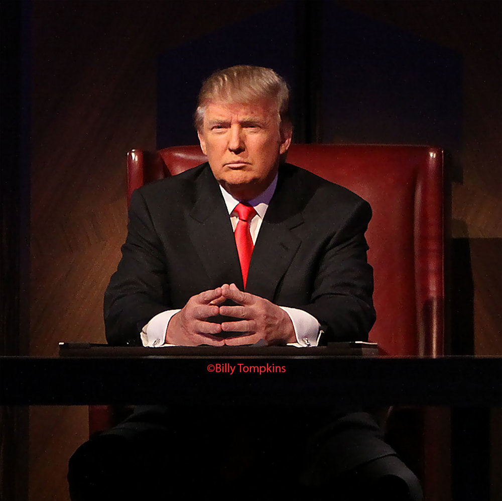 Donald Trump on the set of The Apprentice