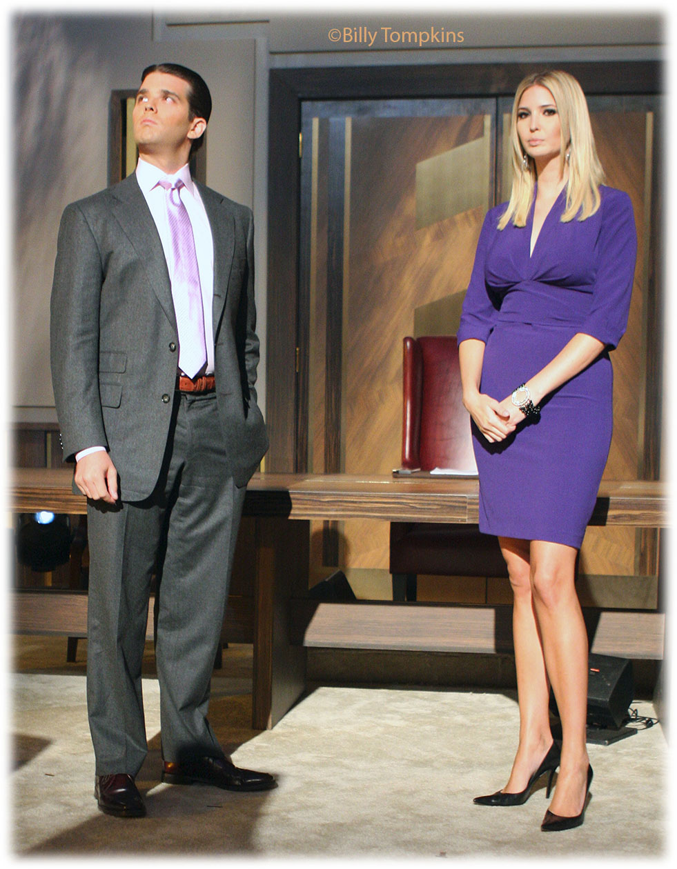 The Trump kids on the set of The Apprentice