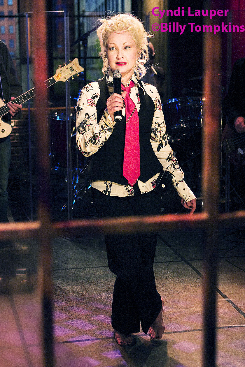 Cyndi Lauper on the set of A&E's Private Sessions