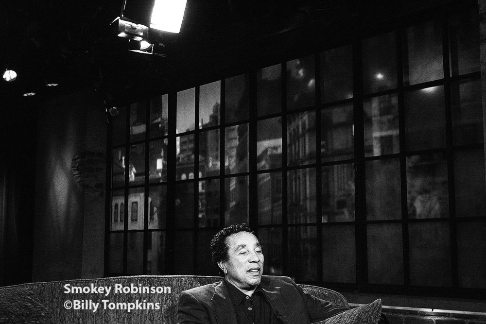 Smokey Robinson on the set of A&E's Private Sessions.