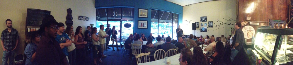 Packed house at Briki Coffee in Norfolk, Va!