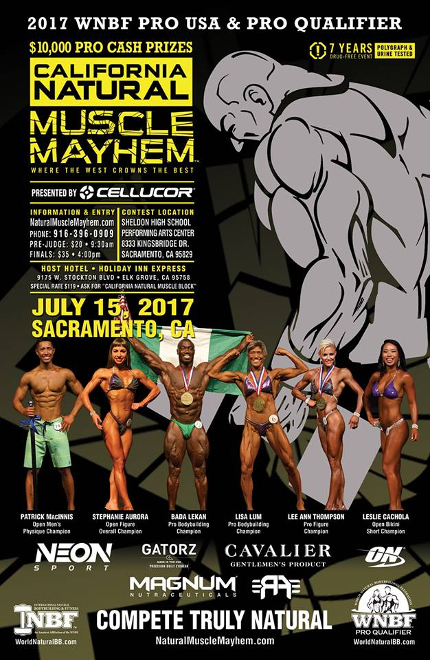 2017 WNBF PRO USA's & California Natural Muscle Mayhem