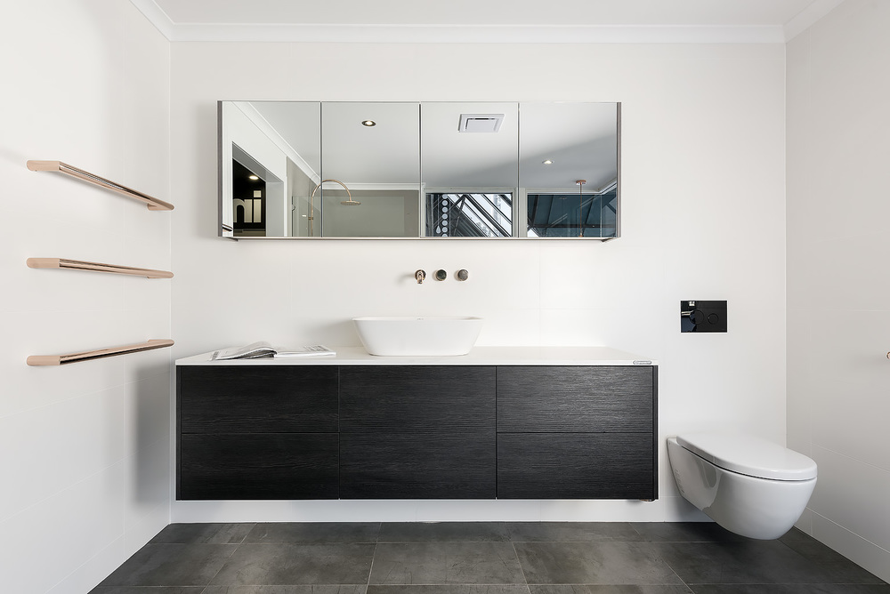 Modern bathroom renovation display