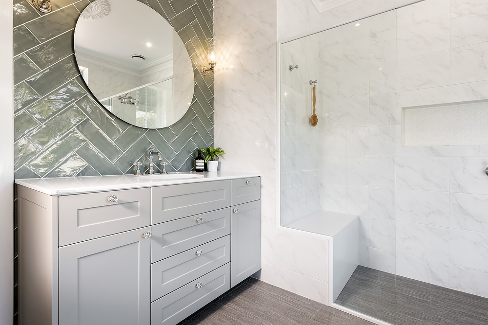 Hamptons style bathroom renovation display