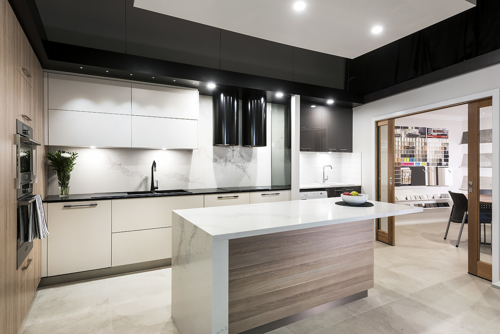 Modern kitchen renovation display