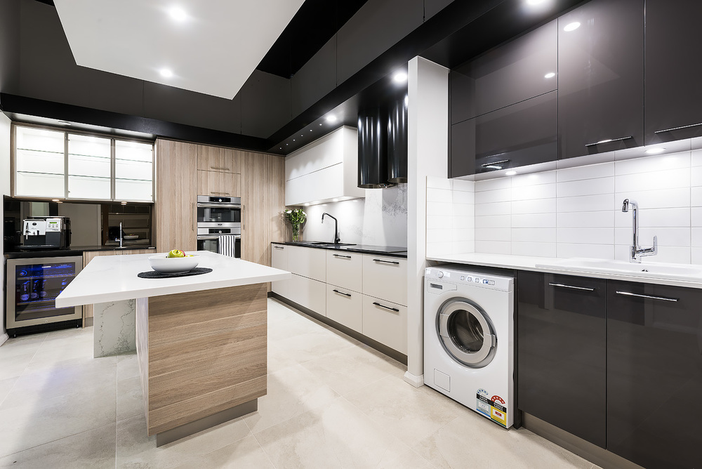 Modern laundry renovation display