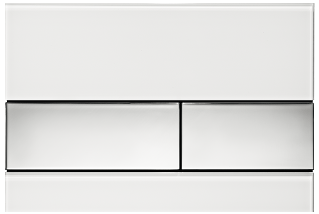 tecesquare-white-chrome-flush-plate