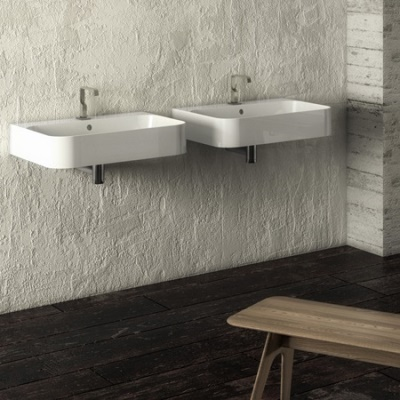 Slim wall hung basin