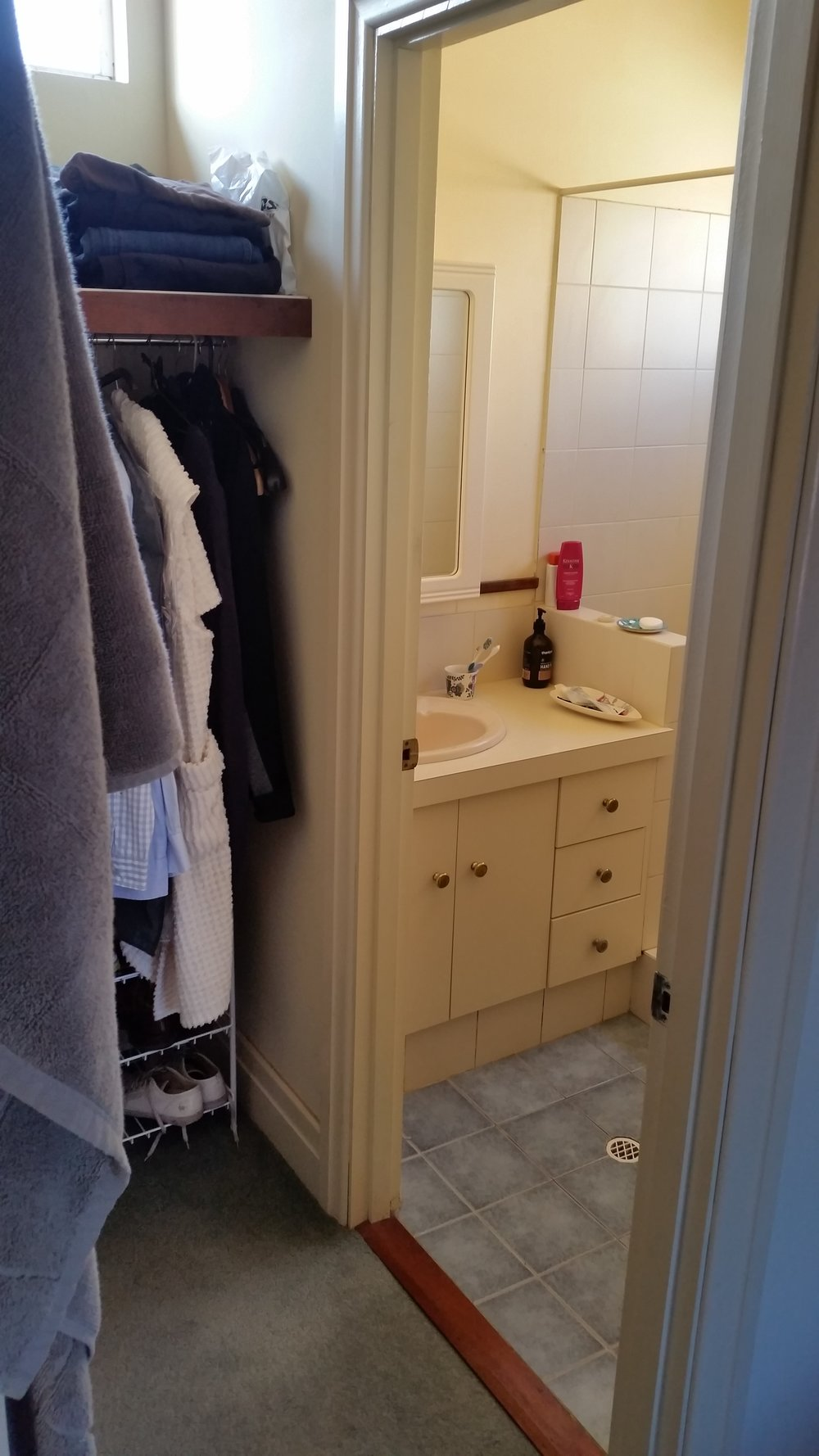 Bathroom renovation before - Former walk-in robe + ensuite