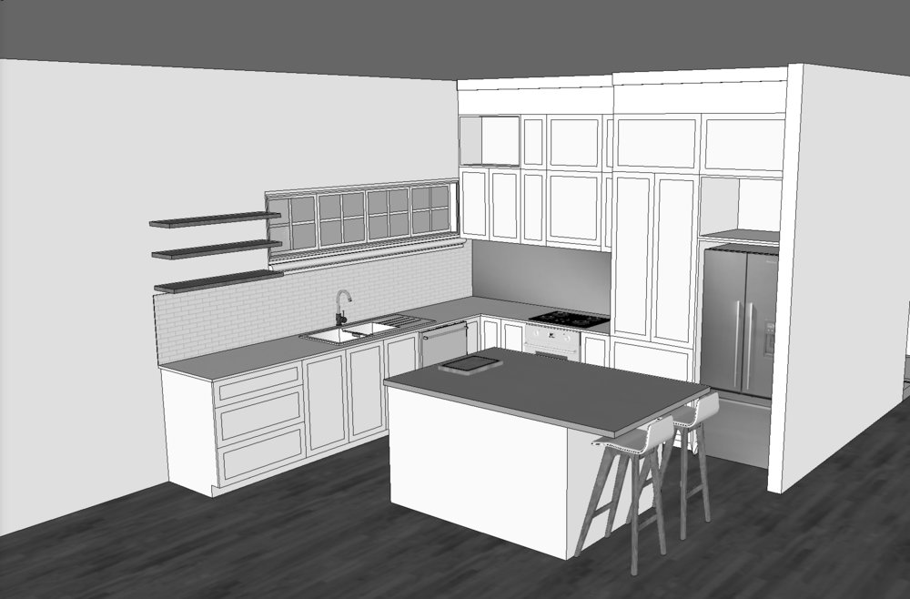 Kitchen renovation - 3D drawing