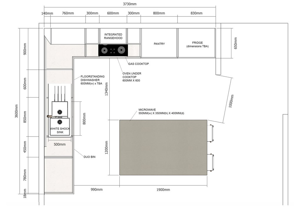 Kitchen renovation - Plan