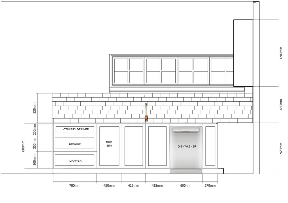 Kitchen renovation - Elevation 2