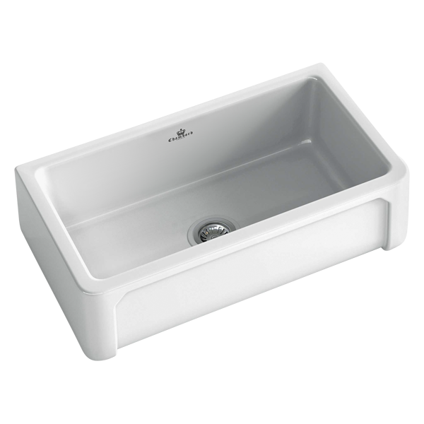 Henri II Large Butler Sink Size: 797 x 470mm | Ref: 02/HENRI-2W | Inset