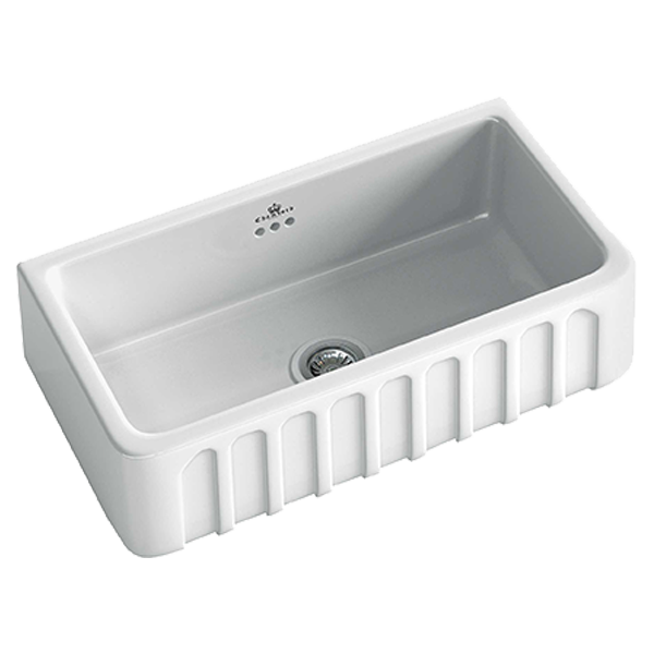 Louis II Large Butler Sink Size: 795 x 470mm  |  Ref: 02/LOUIS-2W  |  Inset