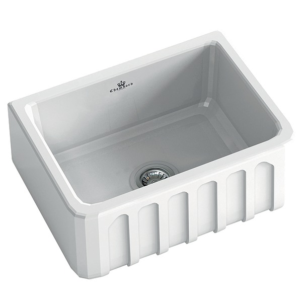 Louis I Butler Sink Size: 595 x 480mm  |  Ref: 02/LOUIS-1W  |  Inset