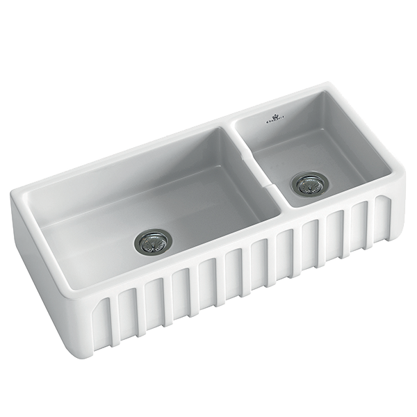 Louis III 1.5 Bowl Butler Sink Size: 997 x 480mm  |  Ref: 02/LOUIS-3W  |  Inset
