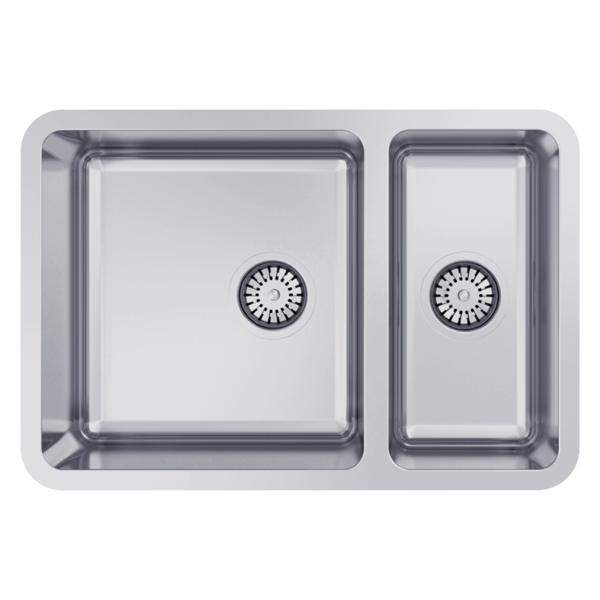 1 1/3 Bowl Undermount Size: 660 x 450mm | Ref: 02/LG180U | Undermount