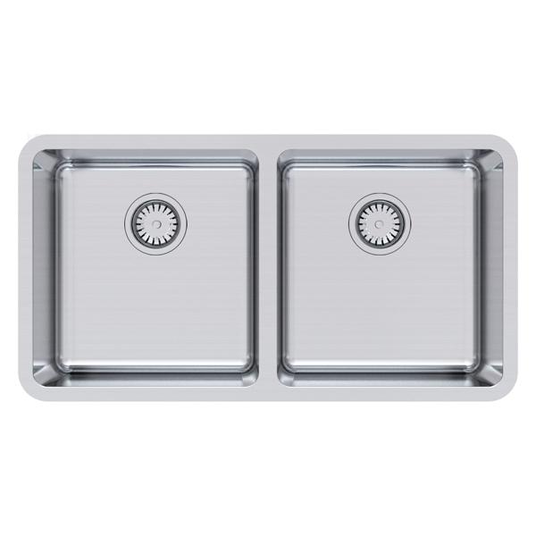 Double Bowl Undermount Size: 840 x 450mm | Ref: 02/LG200U | Undermount