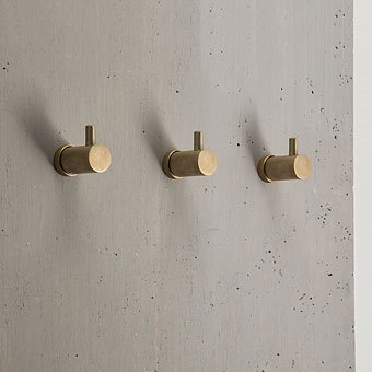 Yokato Robe Hook - Rumbled Brass.jpg