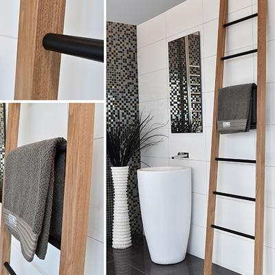 dc short wooden ladder heated towel rails