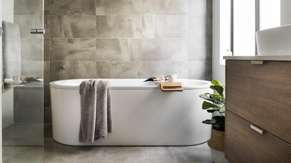 Bold and beautiful bathroom renovation, Ardross