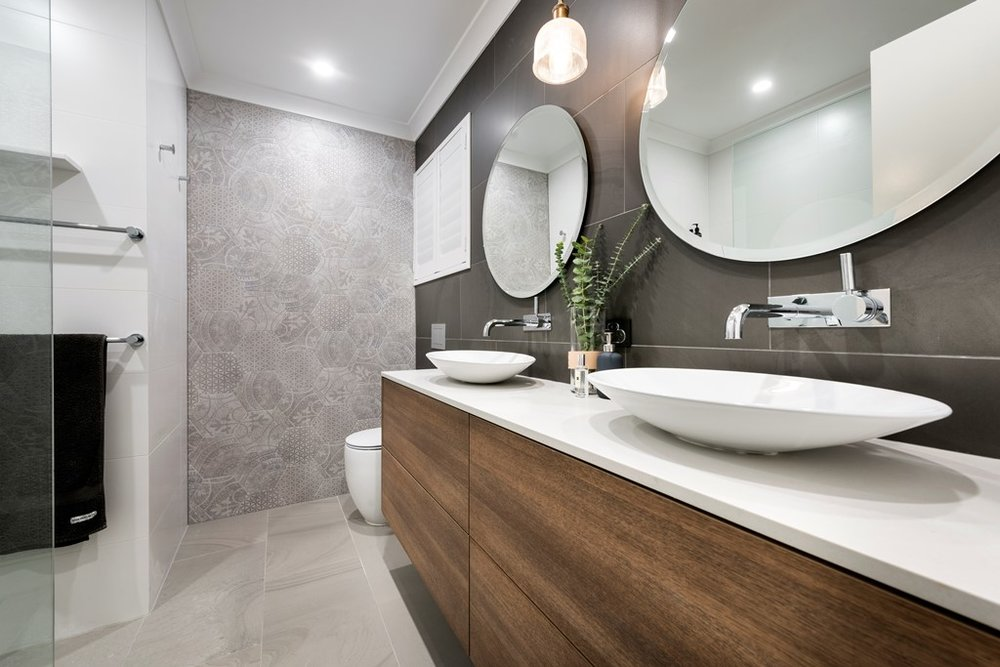 Modern bathroom renovations perth lavare bathrooms for Modern bathroom renovations