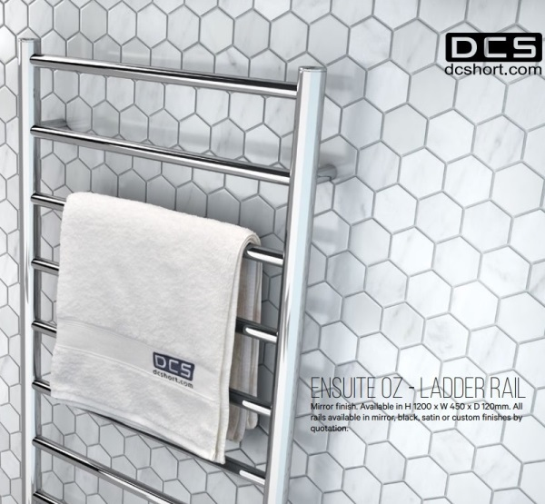 DC Short Heated Towel Rail