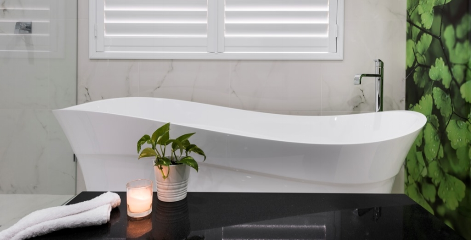 Lavare Luxury Transitional Bathroom Renovation - Botanical