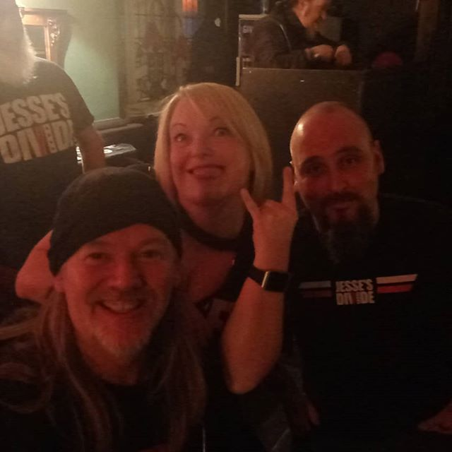 MASSIVE thanks to Tony, Claire and Danny for making the trip from Stoke to Mansfield tonight! #JessesDivision #rock #stoke #mansfield #gig #band #live #music #uk