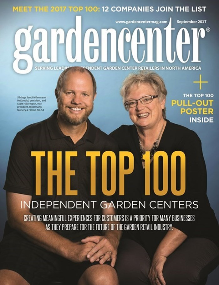 """We"" made the September cover of Garden Center Magazine!!! Sandi Hillermann, Scott Hillermann...cover and story photos by  brendanjoyce.com.   http://www.gardencentermag.com/magazine/issue/september-2017/"