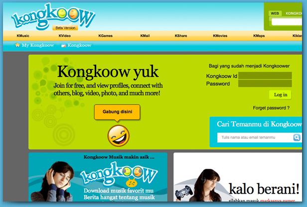 Kongkoow Portal - a product of Indosat M2