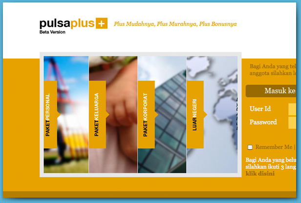 Pulsa Plus+, Top-up voucher online distribution