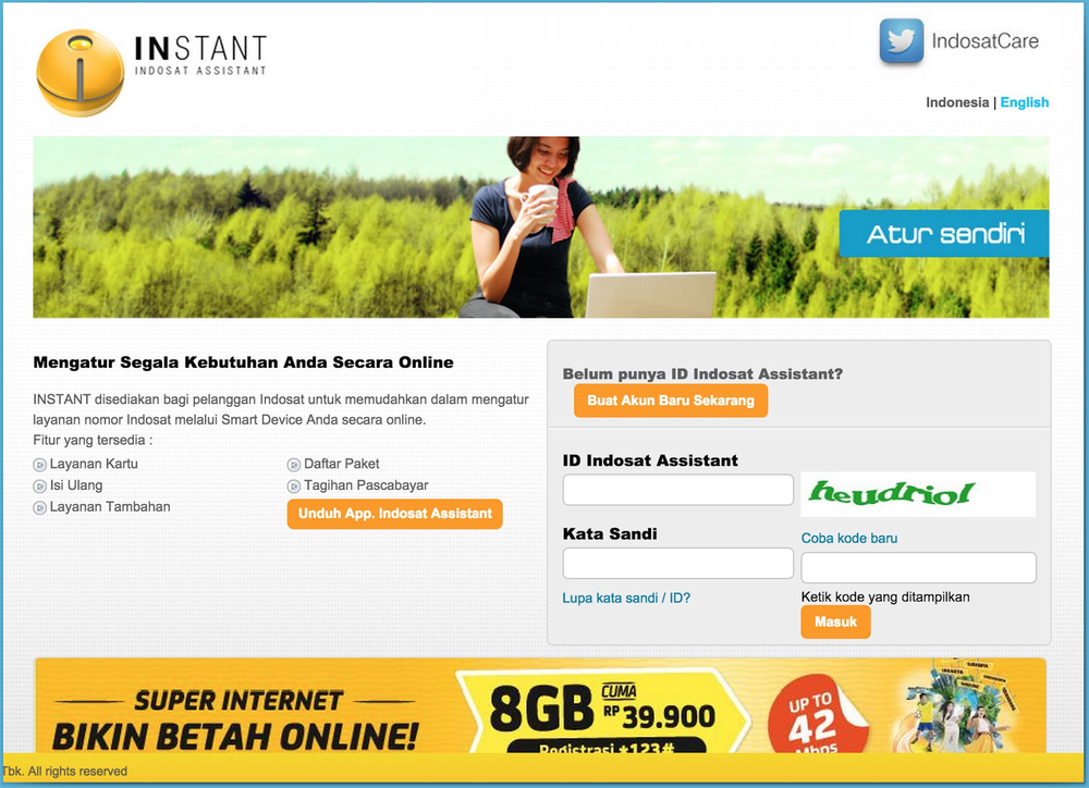 Indosat Instant - Web self-care portal