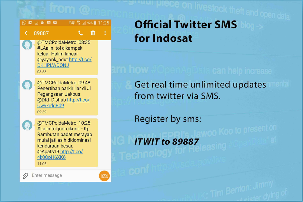 Official Twitter SMS for Indosat