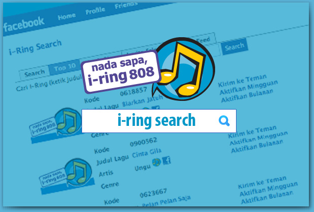 Indosat RBT Service - i-Ring Search Engine