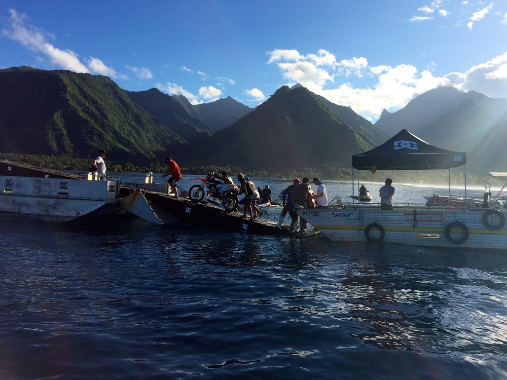 Barge to Barge Surf Bike Transfer | Tahiti
