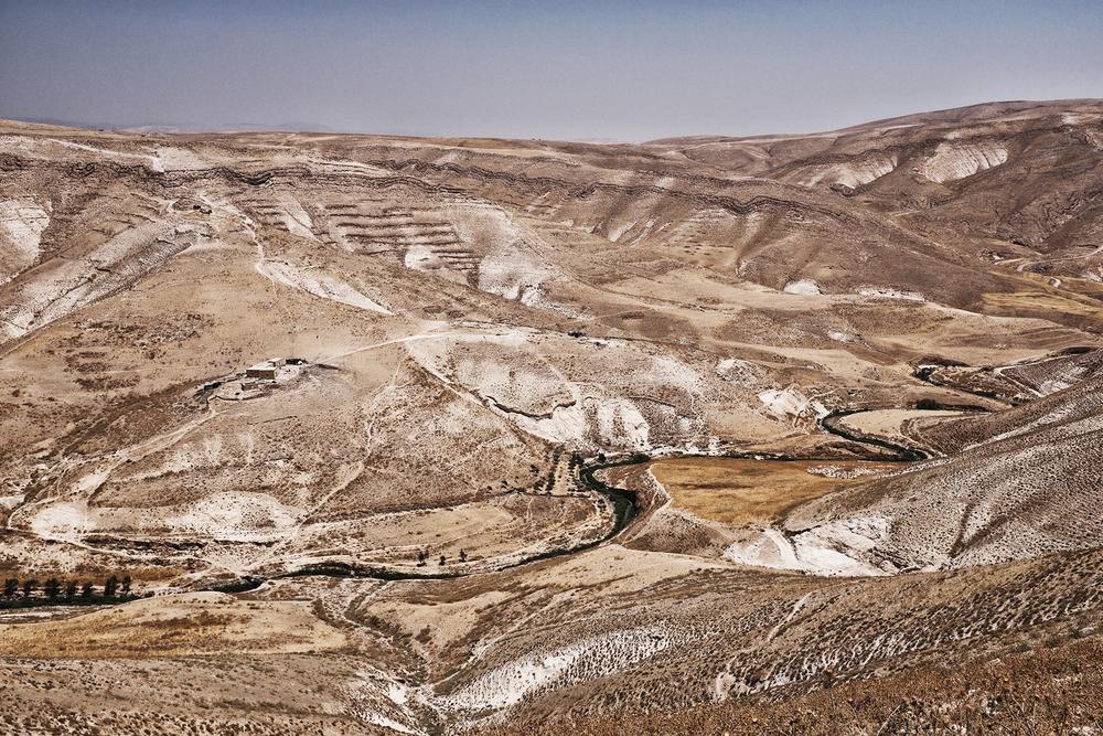 Palestine, rivière du Jourdain. 2015