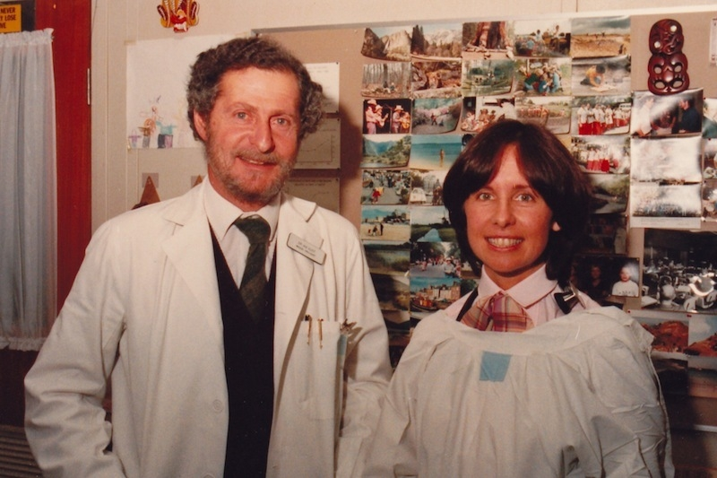 Suzanne Crowe and her head lab technician, Ian Gust