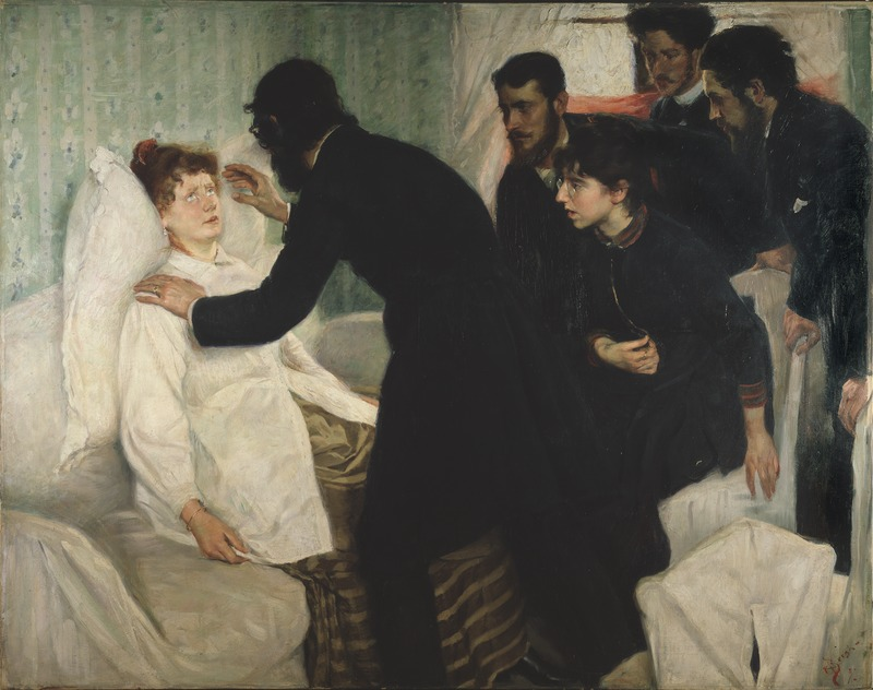 Hypnotic Séance, Richard Bergh 1887