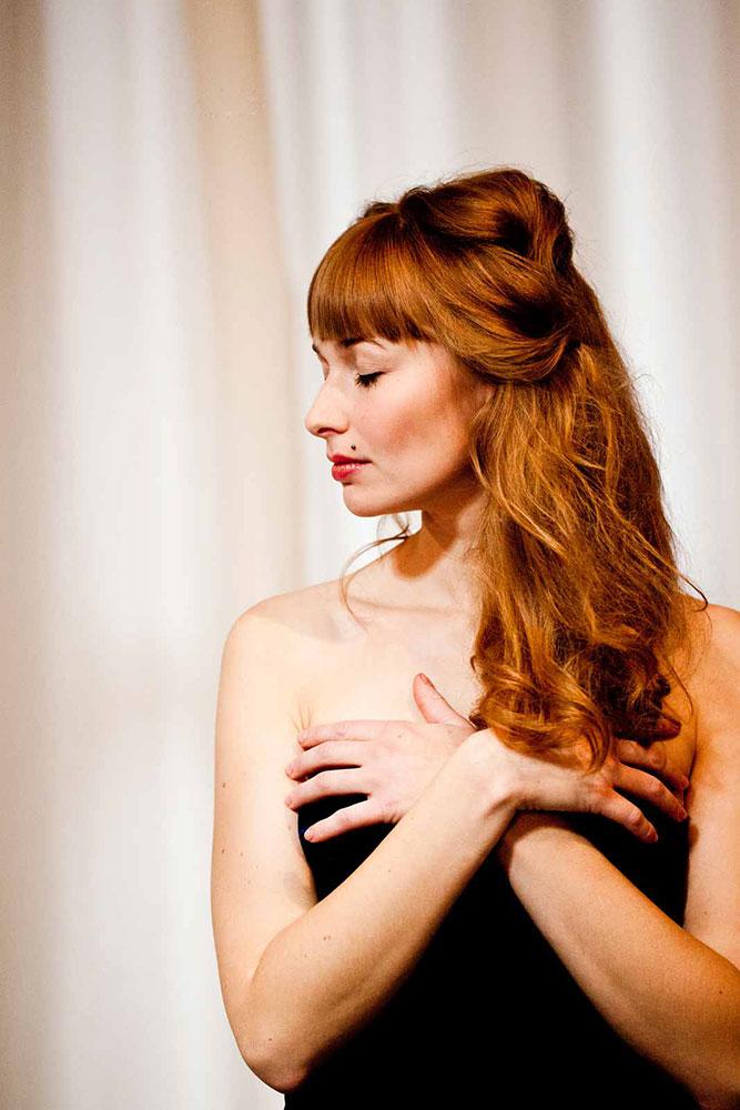 MIt Ecotech Color® gefärbtes, rotes Haar