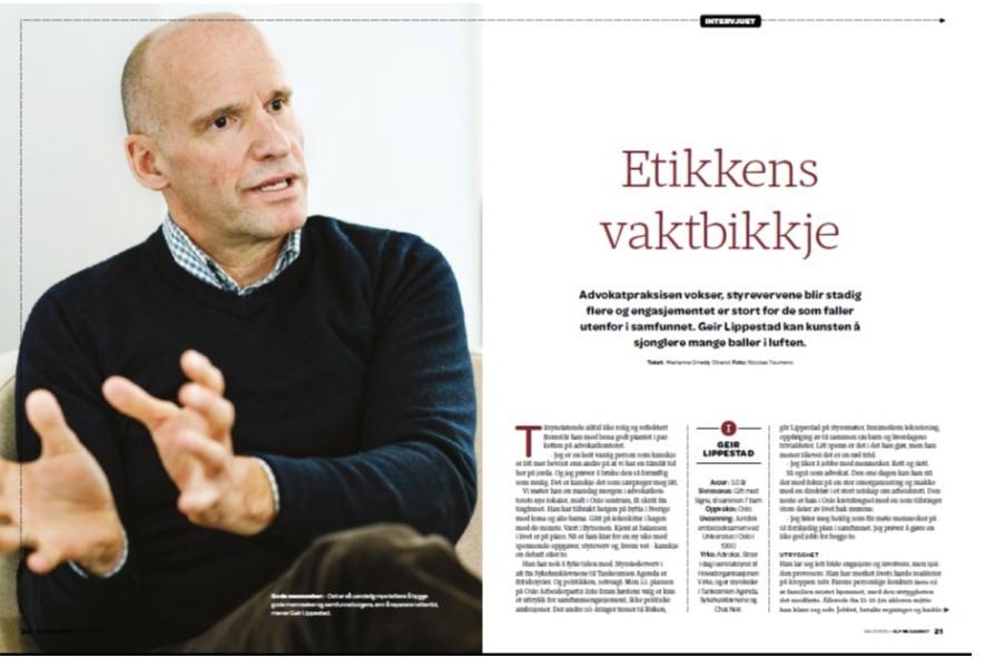 Portrett Geir Lippestad