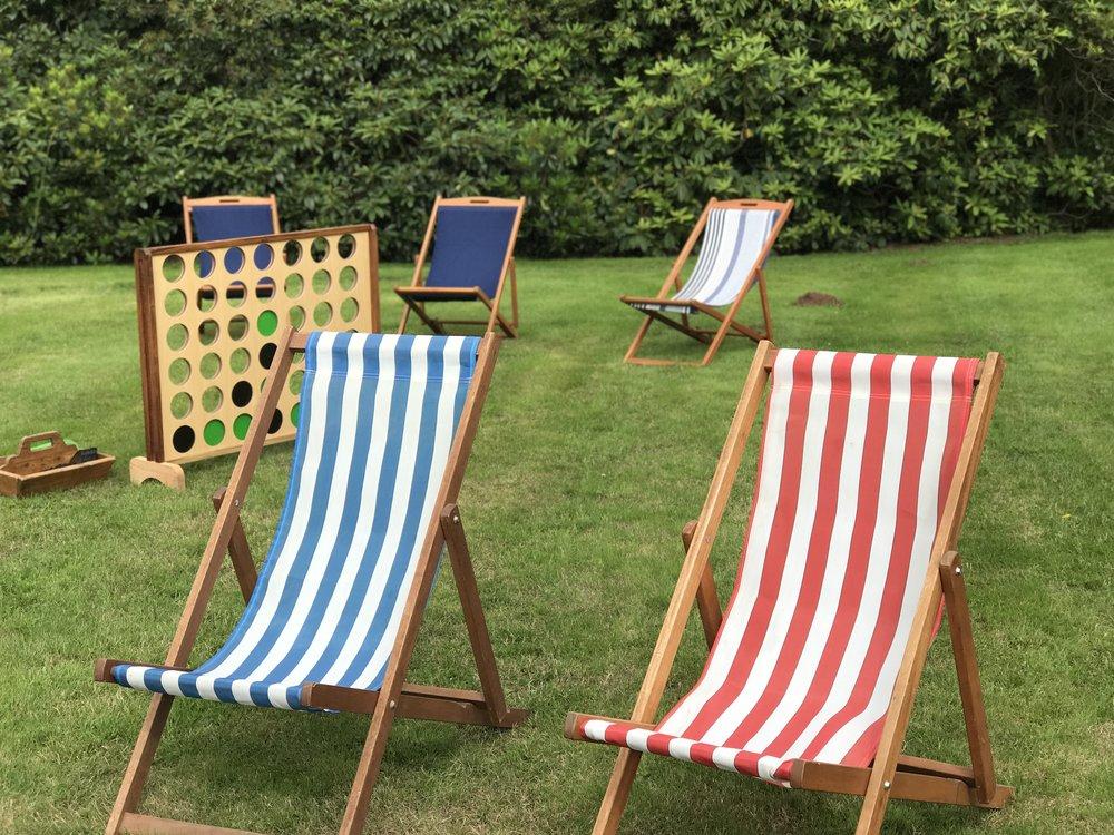 Deckchairs – £5 each (8 available)