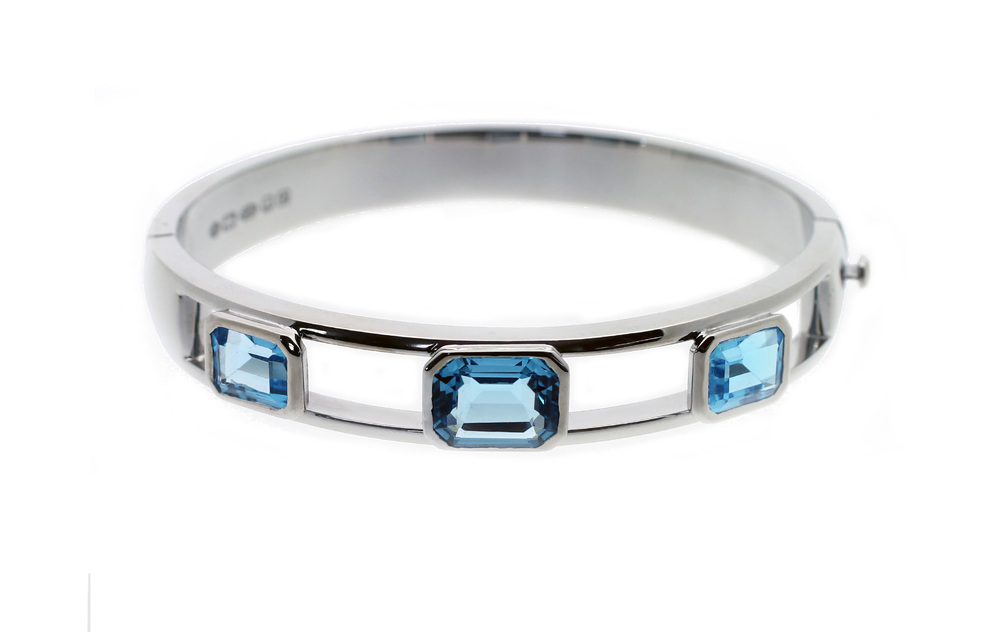 Bespoke Jewellery - silver topaz bangle